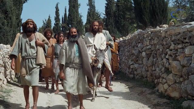 Jésus monte à Jérusalem à dos d'âne