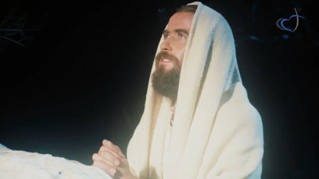 Jésus se recueille sur le mont des oliviers